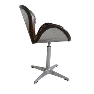 Aurelle Home Modern Classic Brown Club Chair