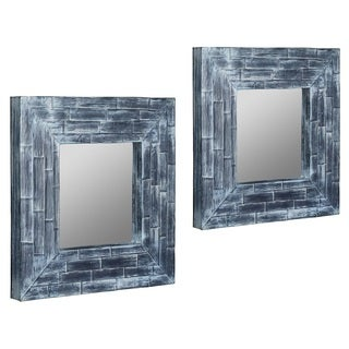 Bito Blue Washed Mirrors (Set of 2)