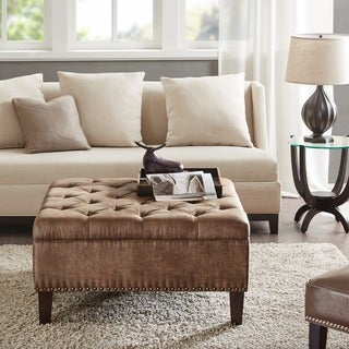 Madison Park Alice Tufted Square Cocktail Ottoman