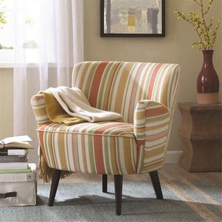 Striped Living Room Chairs. Madison Park Lois Mid century Accent Chair Yellow  Striped Living Room Chairs For Less Overstock com
