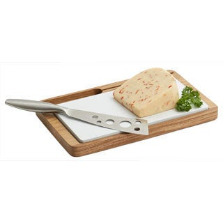 Woodard & Charles WTO455 Ceramic Tile and Knife Cheese Tray Set
