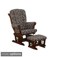 Cotton Tale 'Raspberry Dot Collection' Chocolate Vine Glider with Ottoman