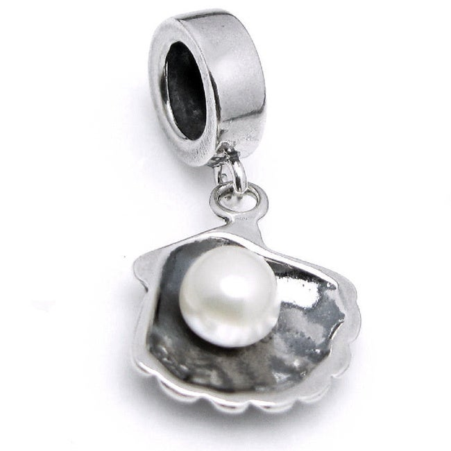 Queenberry Sterling Silver Fresh Water Pearl Sea Shell Da...