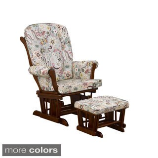 Cotton Tale 'Penny Lane Collection' Floral Glider with Ottoman