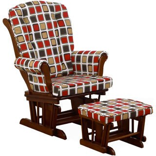 Cotton Tale 'Houndstooth Collection' Multicolored Square Glider with Ottoman
