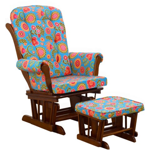 Cotton Tale 'Gypsy Collection' Multicolored Floral Glider with Ottoman