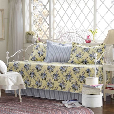 Laura Ashley Linley 5-piece Quilted Daybed Cover Set