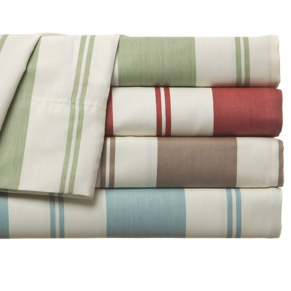 Cabana 350 Thread Count Stripe Cotton-rich Sheet Set