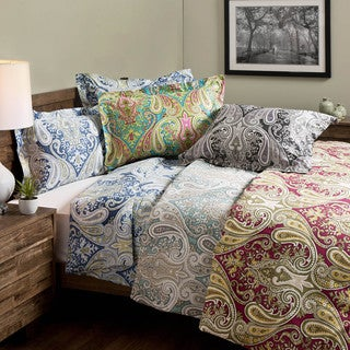 Crystal Palace 100-percent Cotton Print 3-piece Duvet Set