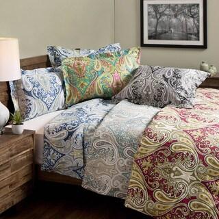 crystal palace 100percent cotton print 3piece duvet cover set