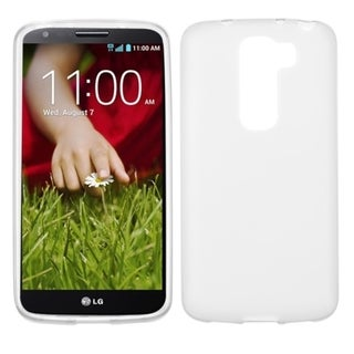 Insten White Jelly Rubberized Hard Plastic Slim Snap-on Phone Case Cover For LG G2 Mini LS885