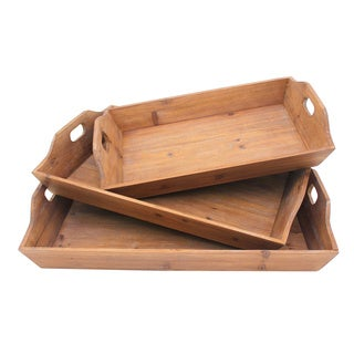 Brown Wood Table Trays