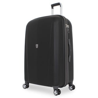 SwissGear Black 28-inch Hardside Upright Spinner Suitcase