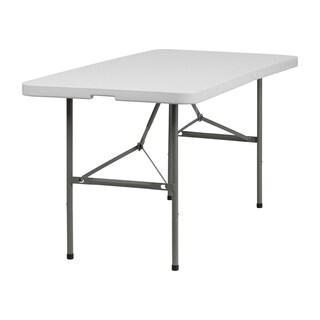 Offex 30 x 60-inch Plastic Bi-Fold Folding Table