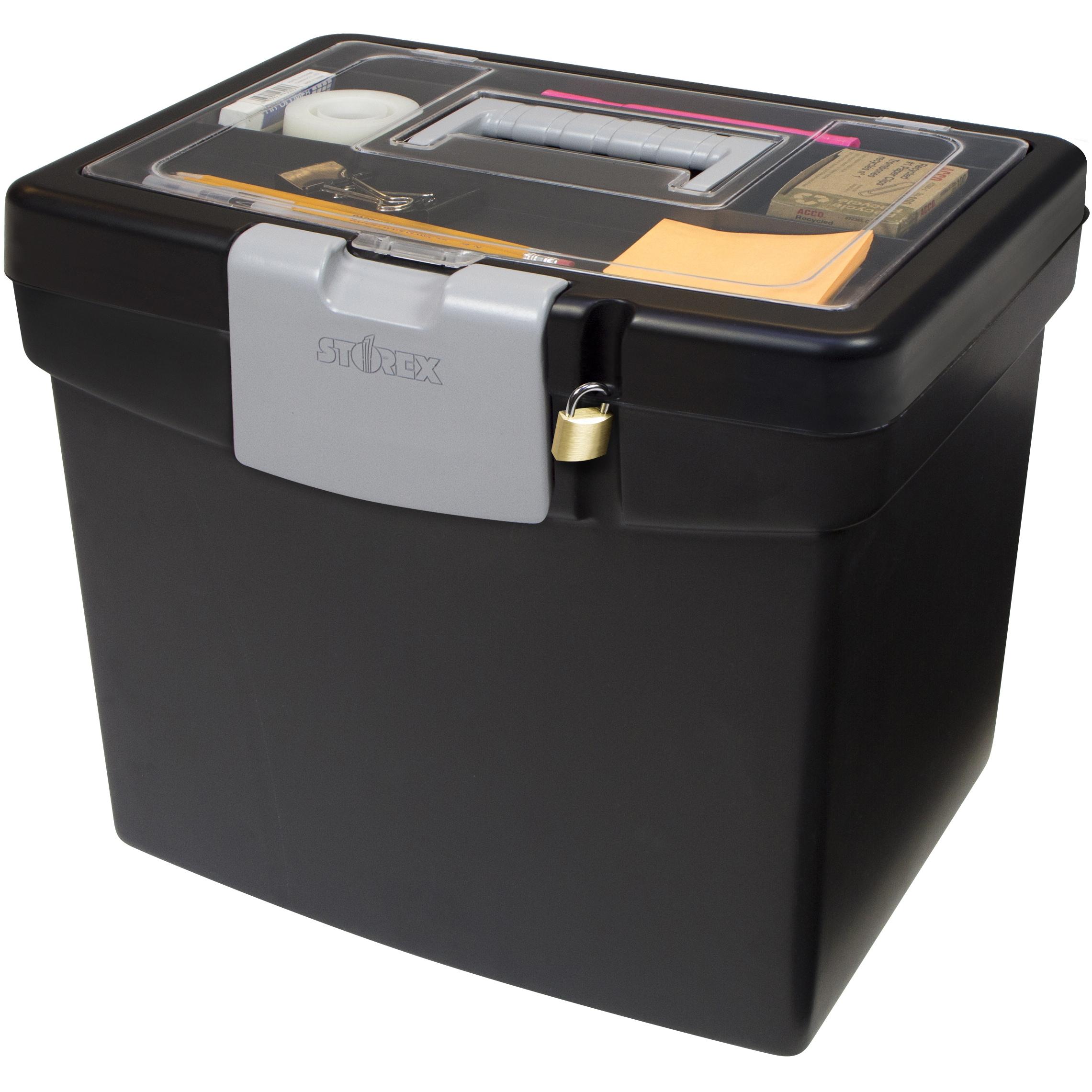 Portable File Box Storage Lid Letter Storage Organizer Hanging
