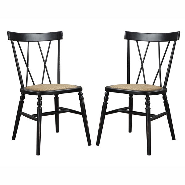 Handy living citybrook antique black dining chairs set of 2 free shipping today overstock Angelo home patio furniture