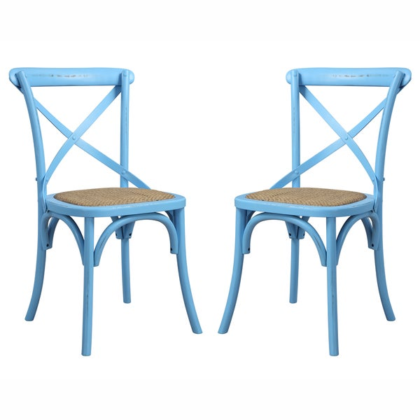 Handy Living Cadwell Antique Blue Dining Chairs (Set of 2) - Shop Handy Living Cadwell Antique Blue Dining Chairs (Set Of 2