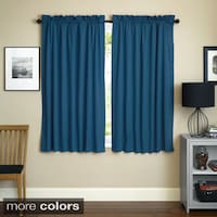 Blazing Needles Twill 63 Inch X 52 Curtain Panels Set Of 2