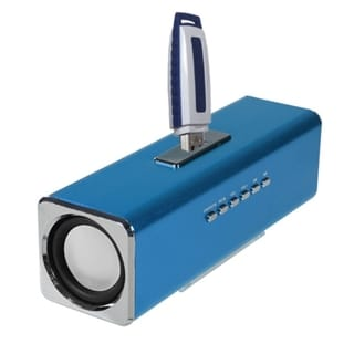 Insten 3-way 3.5mm FM Radio Micro SD Card USB Flash Portable Mobile Speaker