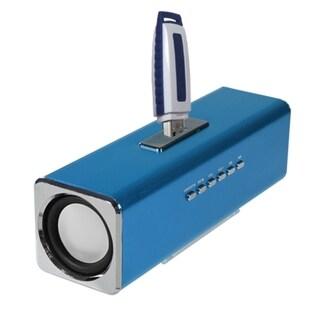 Insten 3-way 3.5mm FM Radio Micro SD Card USB Flash Portable Mobile Speaker