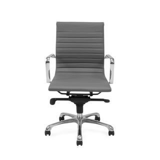 Aurelle Home Low Back Grey Office Chair (Set of 2)