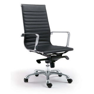 Aurelle Home Black Euro style High Back Office Chair