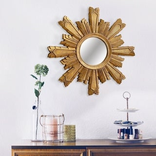 Mikah Novelty Gold Sunburst Wall Mirror - Bronze/Gold By Abbyson
