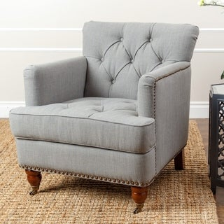 ABBYSON LIVING Tafton Green-grey Linen Club Chair