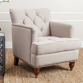 ABBYSON LIVING Tafton Beige Linen Club Chair