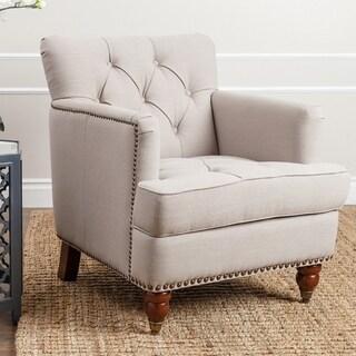 Abbyson Tafton Beige Linen Club Chair