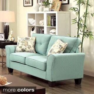 Furniture of America Primavera Modern Linen Loveseat