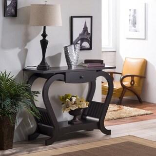 Furniture of America Hartleon Espresso Modern Sofa Table