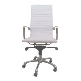 Aurelle Home Travis White High Back Office Chair (Set of 2)