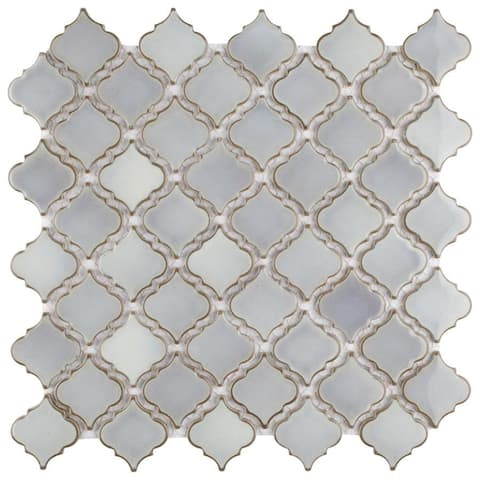 SomerTile 12.375x12.5-inch Antaeus Grey Eye Porcelain Mosaic Floor and Wall Tile (10 tiles/10.7 sqft.)
