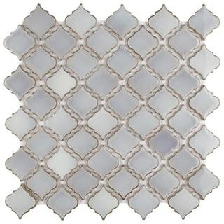 SomerTile 12.5x12.375-inch Antaeus Grey Eye Porcelain Mosaic Floor and Wall Tile (Case of 10)