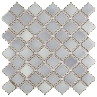 Link to SomerTile 12.375x12.5-inch Antaeus Grey Eye Porcelain Mosaic Floor and Wall Tile (10 tiles/10.7 sqft.) (As Is Item) Similar Items in As Is