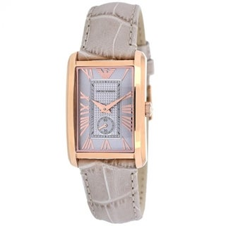 Emporio Armani Women's 'Classic' Beige Leather Watch