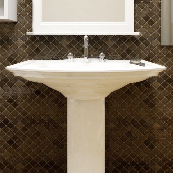 Somertile antaeus gold porcelain mosaic for 12 inch floor tile