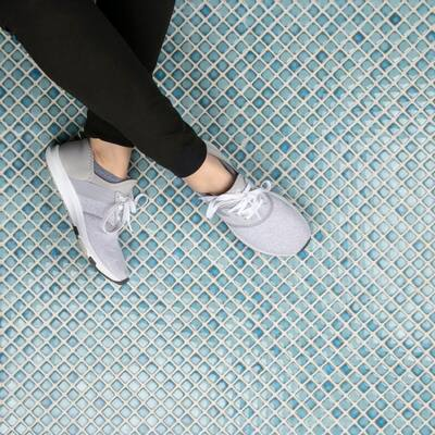 "SomerTile Hudson Diamond Marine 12.38"" x 12.38"" Porcelain Mosaic Tile"