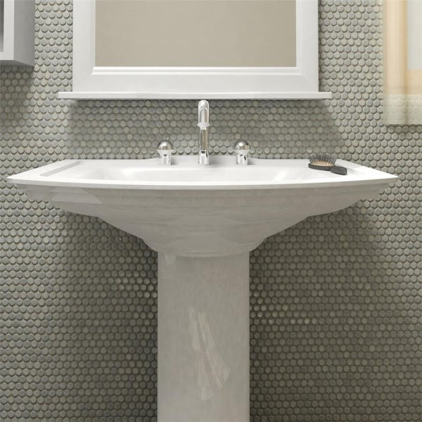 Somertile 12x12 625 Inch Penny Grey Eye Porcelain Mosaic Floor And Wall Tile