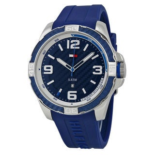 Tommy Hilfiger Men's 1791091 Blue Silicone Watch
