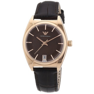 Emporio Armani Women's AR0378 'Classic' Brown Leather Watch