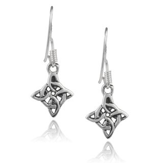 Journee Collection Sterling Silver Celtic Earrings