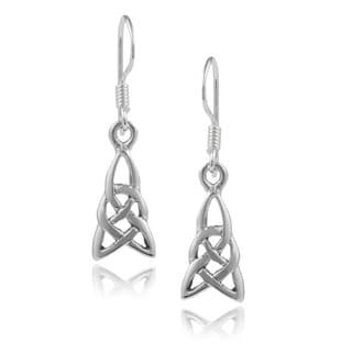 Journee Collection Sterling Silver Celtic Dangle Earrings