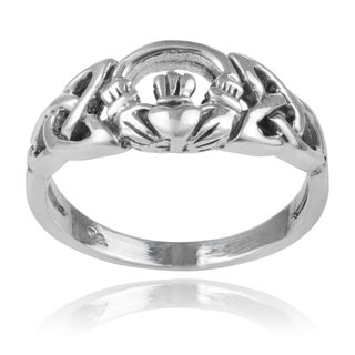 Journee Collection Sterling Silver Claddagh Ring