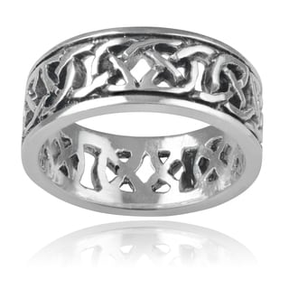 Journee Collection Sterling Silver Celtic Knot Band (8mm)