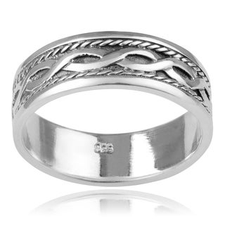 Vance Co. Sterling Silver Men's Celtic Knot Band (8mm)