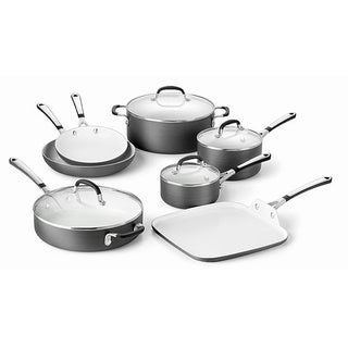 Calphalon Simply Hard Anodized Ceramic 11-piece Cookware Set