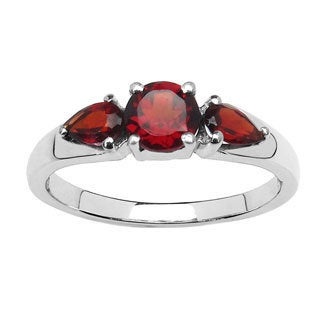 Malaika 1.08 Carat Genuine Garnet .925 Sterling Silver Ring
