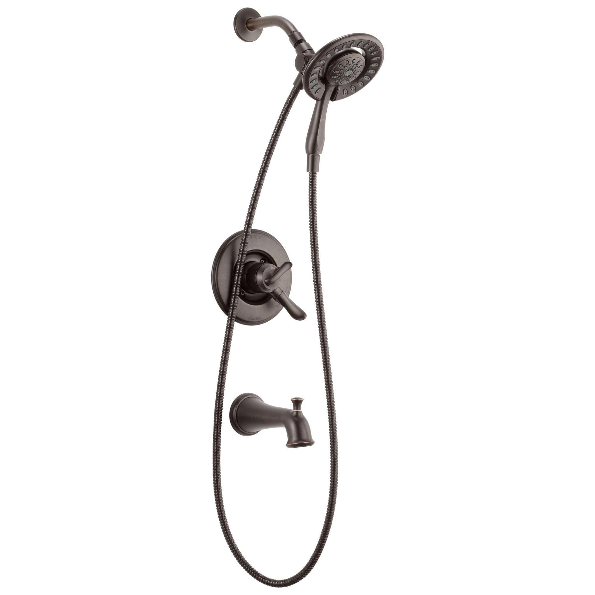 Delta Linden Monitor 17 Series Tub Shower Trim With In2ition T17494 Rb I Venetian Bronze